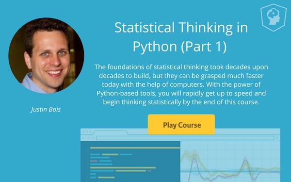 Python statistics course