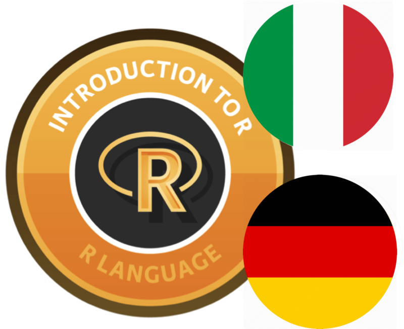 New: Italian and German Translations of Introduction to R