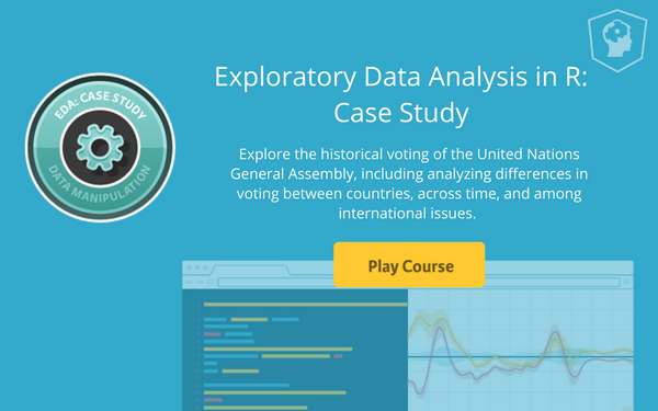 New course! Exploratory Data Analysis in R: Case Study