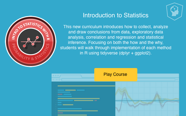 New courses: Introduction to Statistics