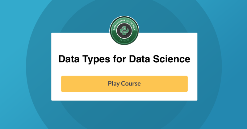 data types for data science datacamp chapter 1 pdf