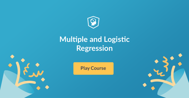multiple and logistic regression in R course