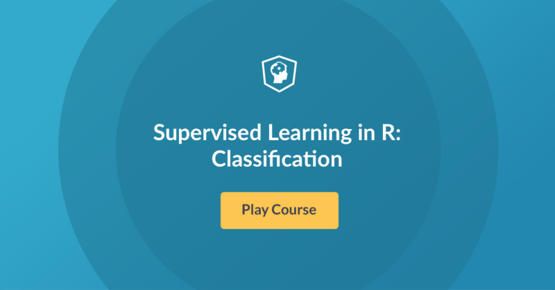 New Course! Supervised Learning in R: Classification